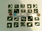 Space glitter tattoo set for boys  including stencils + 5 pots of color +  glue  UFO planet alien moon stars comet